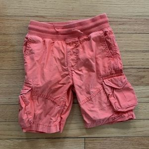 GAP boy's XS Size 4/5 orange cargo shorts